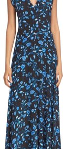 black and blue paisley Maxi Dress by Rebecca Taylor