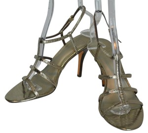 Circa Joan & David Strappy Leather Metallic Sandals