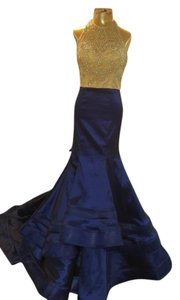 Val Stefani Mermaid Beaded Gown Dress