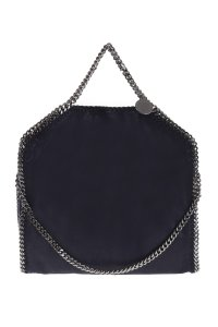 Stella McCartney Faux Leather Tote in Navy Blue