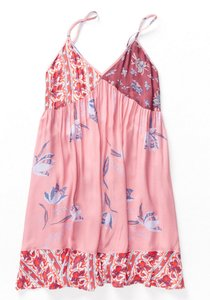 Free People short dress Pink Floral Flowers Slip Intimately on Tradesy