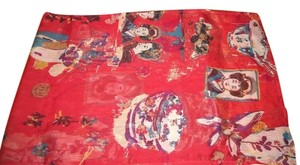 Chicos Chicos Asian Oriental Geisha Scarf Long Sheer Crinkle Polyester
