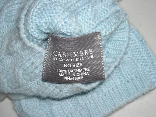 Charter Club Womens Light Blue 100% Lightweight Cashmere Gloves Charter Club One Size Image 1