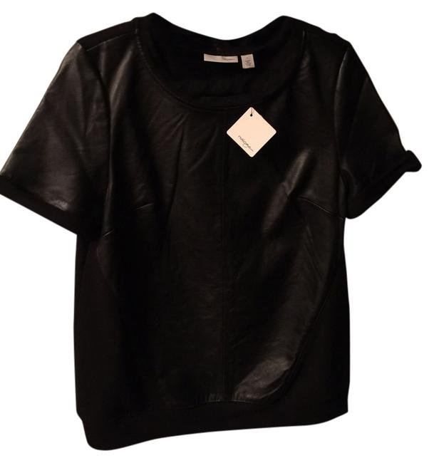 Preload https://item2.tradesy.com/images/halogen-black-leather-and-knit-mixed-media-night-out-top-size-6-s-2147431-0-0.jpg?width=400&height=650