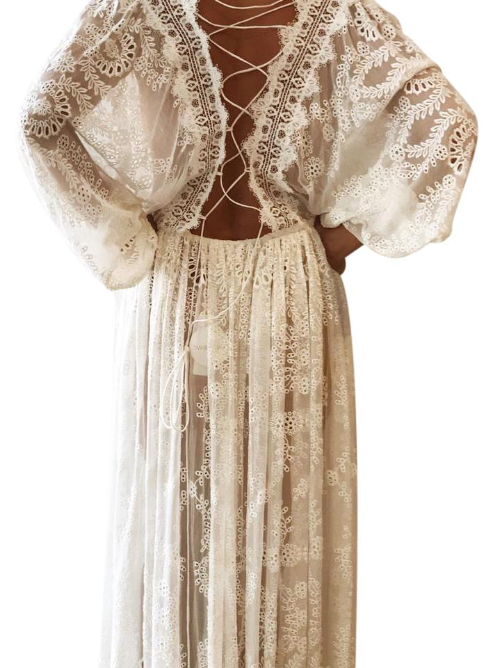 d1a7521a3f0e ZIMMERMANN White Alchemy Embroidery Long Casual Maxi Dress Size 4 (S ...