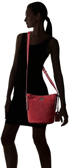 Marc by Marc Jacobs C Lock Leather & Suede Bucket 888877828824 M0007378 Cross Body Bag Image 4