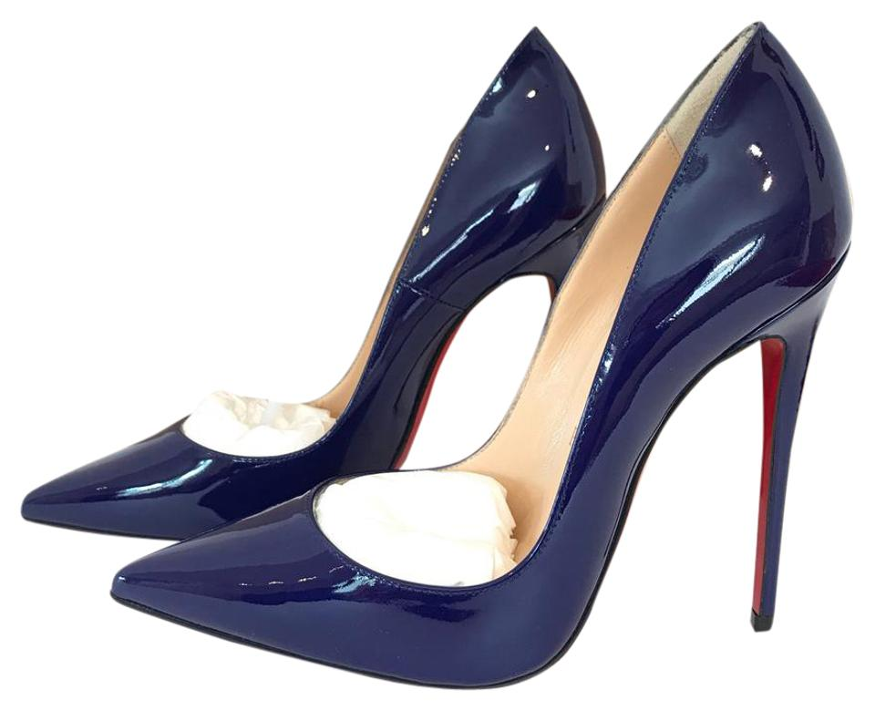 6a5ffe3ca40 Christian Louboutin Navy Blue Encre So Kate Patent Leather 120 Pumps Size  US 6 Regular (M, B) 4% off retail
