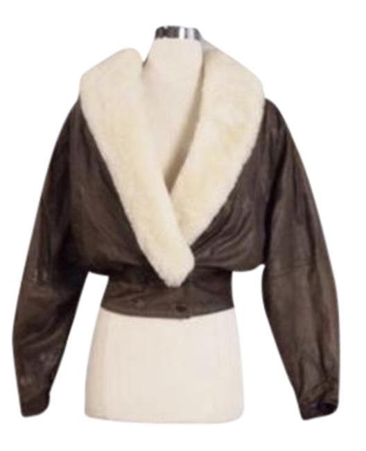 Item - Brown with Cream Shearling Style # 1904 Rn # 69426 Jacket Size 8 (M)