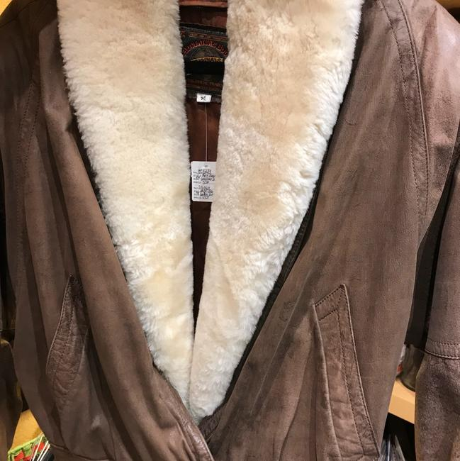 Adventure Bound Brown with cream shearling Jacket Image 1
