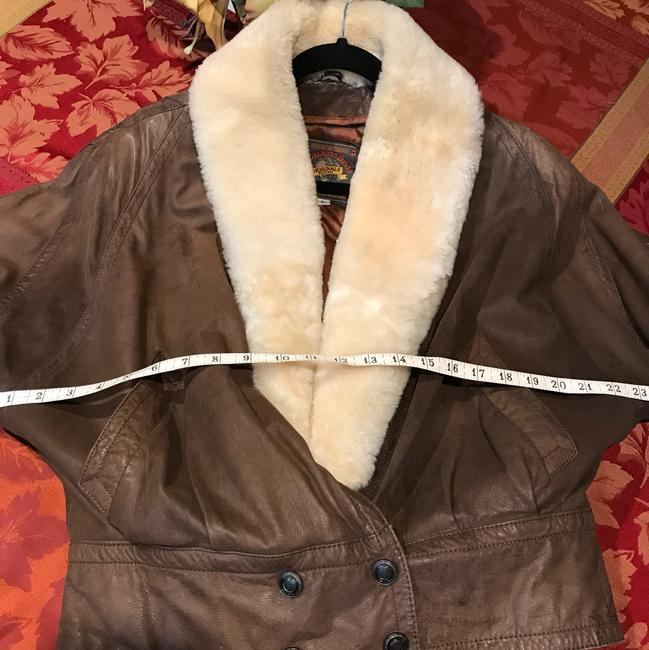 Adventure Bound Brown with cream shearling Jacket Image 4