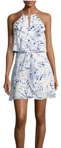 BCBGMAXAZRIA short dress blue / white Amanda Uprichard Alice Olivia Rebecca Taylor Dvf Tory Burch on Tradesy