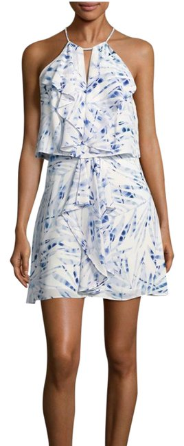 Preload https://img-static.tradesy.com/item/21474902/bcbgmaxazria-blue-white-foliage-print-popover-short-casual-dress-size-4-s-0-1-650-650.jpg