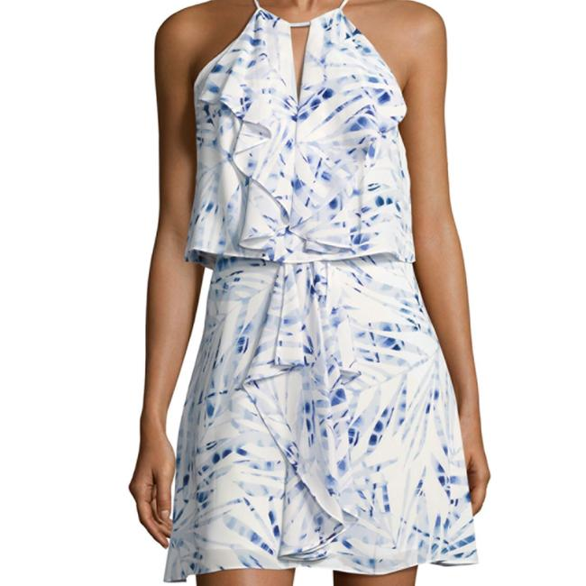 BCBGMAXAZRIA short dress blue / white Amanda Uprichard Alice Olivia Rebecca Taylor Dvf Tory Burch on Tradesy Image 3