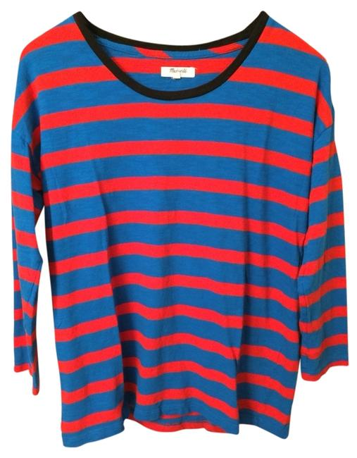 Madewell T Shirt Blue/Red