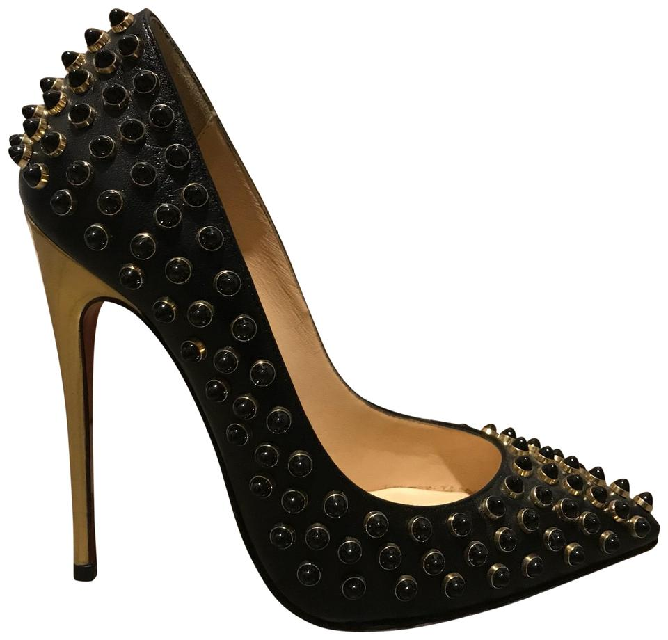bd8d7e8fcbd0 Christian Louboutin Black Follies Cabo 120 Pumps Size US 4 Regular ...