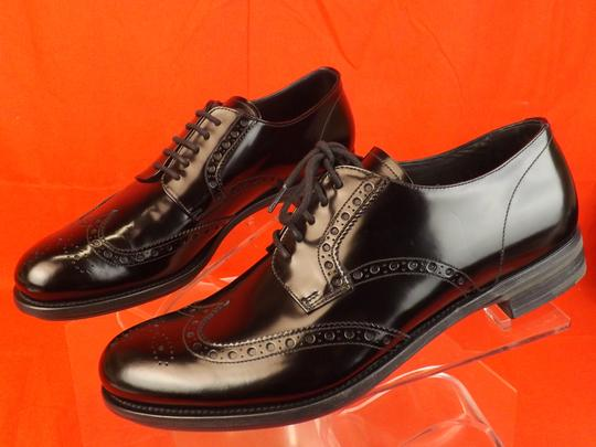 Prada Black Mens Patent Leather Lace Up Wingtip Perforated Oxfords 10 Us 11 Shoes Image 11