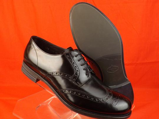 Prada Black Mens Patent Leather Lace Up Wingtip Perforated Oxfords 10 Us 11 Shoes Image 7