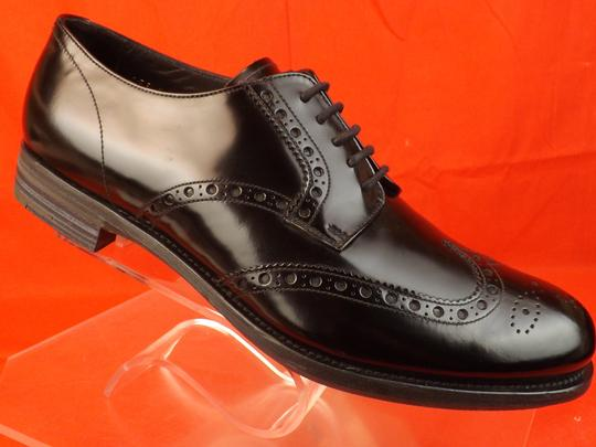 Prada Black Mens Patent Leather Lace Up Wingtip Perforated Oxfords 10 Us 11 Shoes Image 9