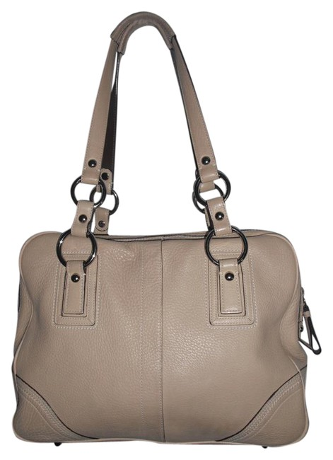 Coach Pebbled Satchel #10726 Beige Cowhide Leather Tote Coach Pebbled Satchel #10726 Beige Cowhide Leather Tote Image 1