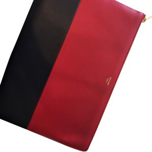 Céline red and black Clutch