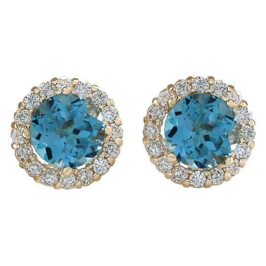 Preload https://img-static.tradesy.com/item/21475924/365-ctw-natural-blue-topaz-and-diamond-14k-solid-yellow-gold-earrings-0-0-540-540.jpg