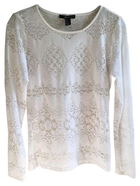 Preload https://img-static.tradesy.com/item/21475946/forever-21-white-classy-and-chic-long-sleeve-night-out-top-size-4-s-0-1-650-650.jpg