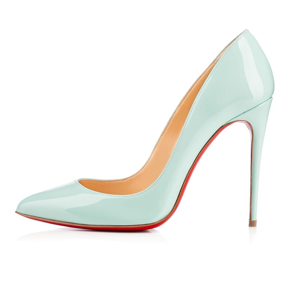 Christian Louboutin Source Light Blue Pigalle Follies 37 5 Patent Leather 100 Pumps Size Us 7 5 Regular M B 11 Off Retail