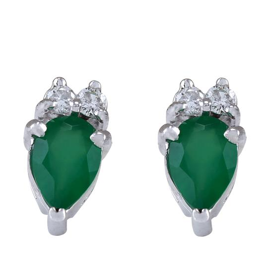 Preload https://img-static.tradesy.com/item/21476418/green-182-carat-natural-emerald-14k-white-gold-diamond-earrings-0-0-540-540.jpg