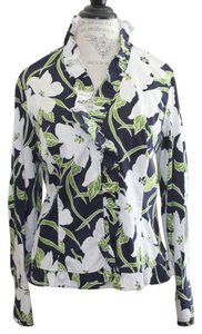 Jones New York Floral Spring Gardenias Top Multi-Color
