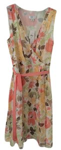 Ann Taylor LOFT short dress multi color floral on Tradesy