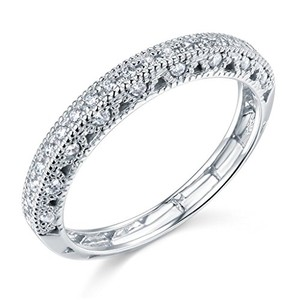 14k white gold solid wedding band sizes 5 6 7 8 9 - Best Place To Sell Wedding Ring