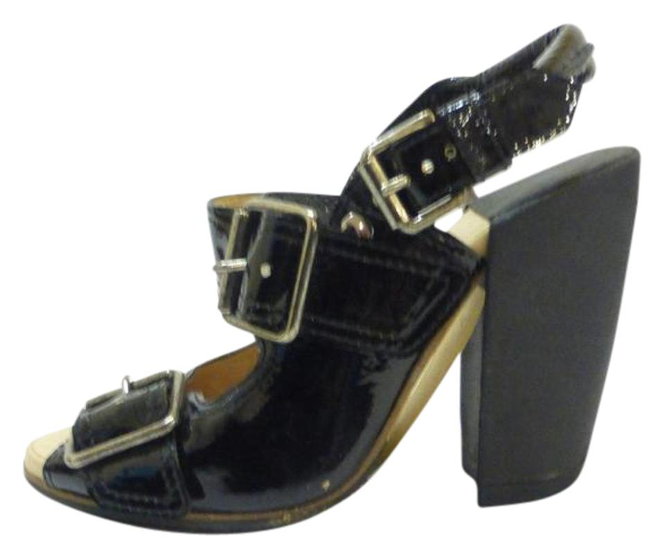 Dries van Open-toe Noten Black Patent Leather Open-toe van W/Buckle Detail It36 Sandals cefac4