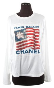 Chanel American Flag Graphic T Shirt White