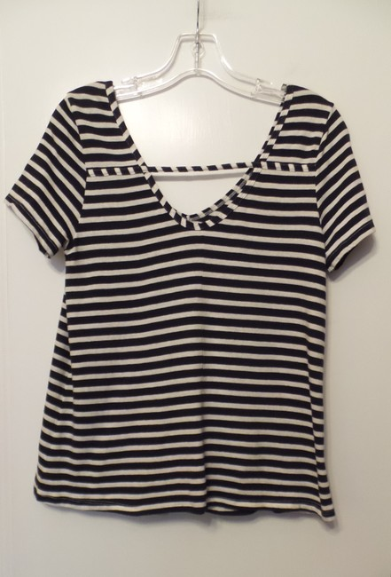 Anthropologie New Knit French Sailor Pure Top Navy + White Image 1