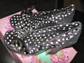 Irregular Choice Velvet Bow Sueded Black sequin polka dot Platforms Image 6