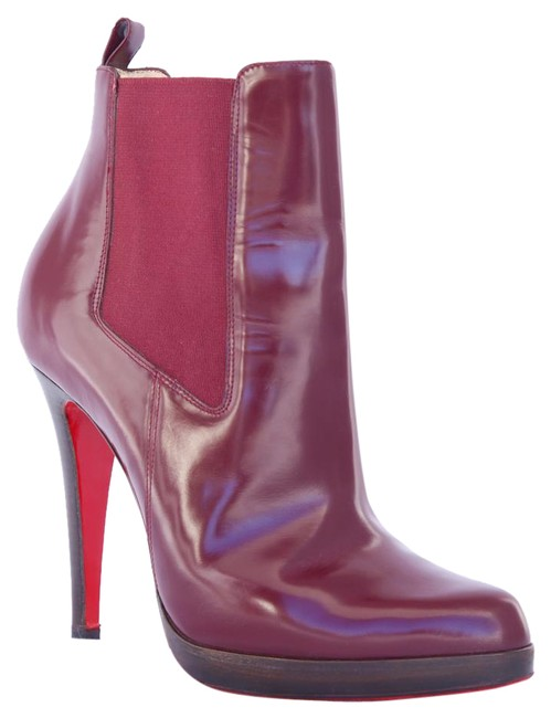 Item - Red Burgundy Bang Bang Leather Platform High Heel Lady Fashion Toe Ankle Italy Boots/Booties Size EU 37 (Approx. US 7) Regular (M, B)