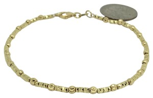 Other 18K Yellow Gold Diamond Cut Bead Bracelet