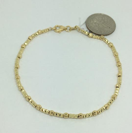 Other 18K Yellow Gold Diamond Cut Bead Bracelet Image 1