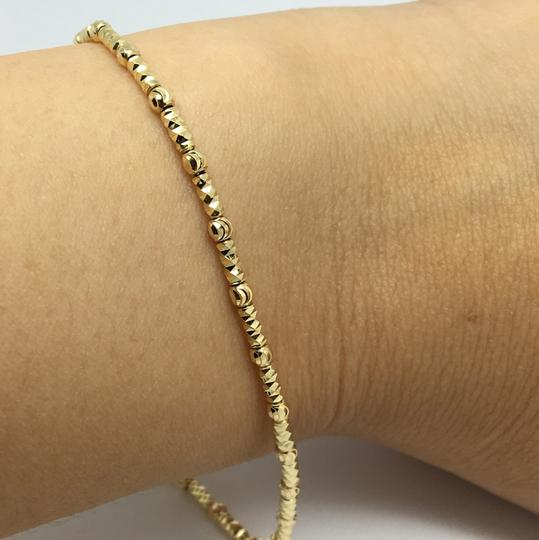 Other 18K Yellow Gold Diamond Cut Bead Bracelet Image 6