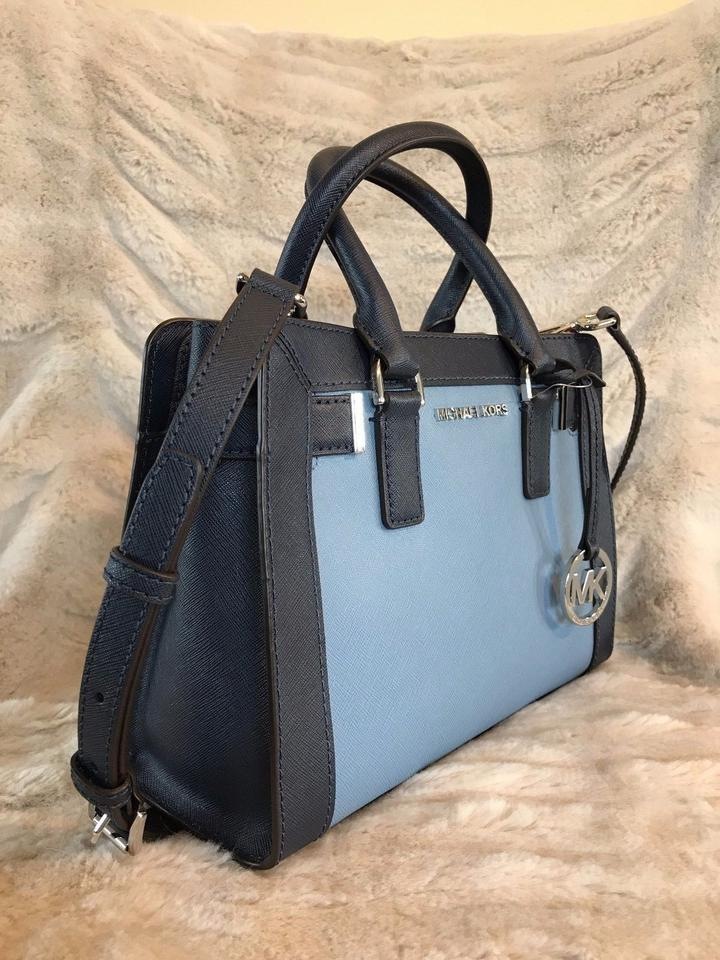 875b7cd98136 Michael Kors Dillon Small Colorblock Msrp Blue Navy Saffiano Leather ...
