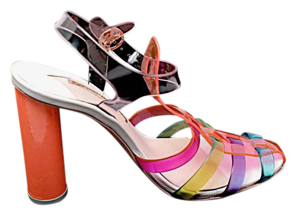 c0f61748d9a0 Sophia Webster Rainbow Colors Jelly T-strap 4.75