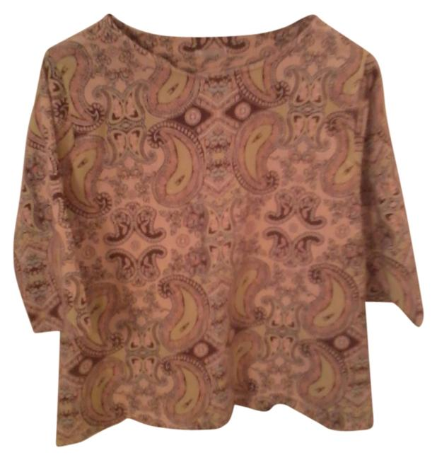 Kenneth Too Paisley Top Tan with multi-color