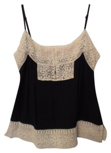 House of Harlow 1960 Lace Sleeveless Tank Top Black, Off-White
