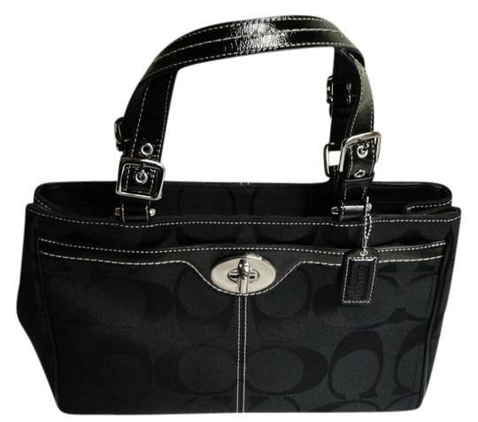 Coach New Classic Signature Handbags Satchel in Black