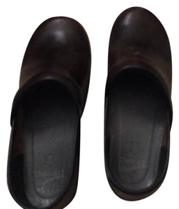 Dansko brown leather Mules