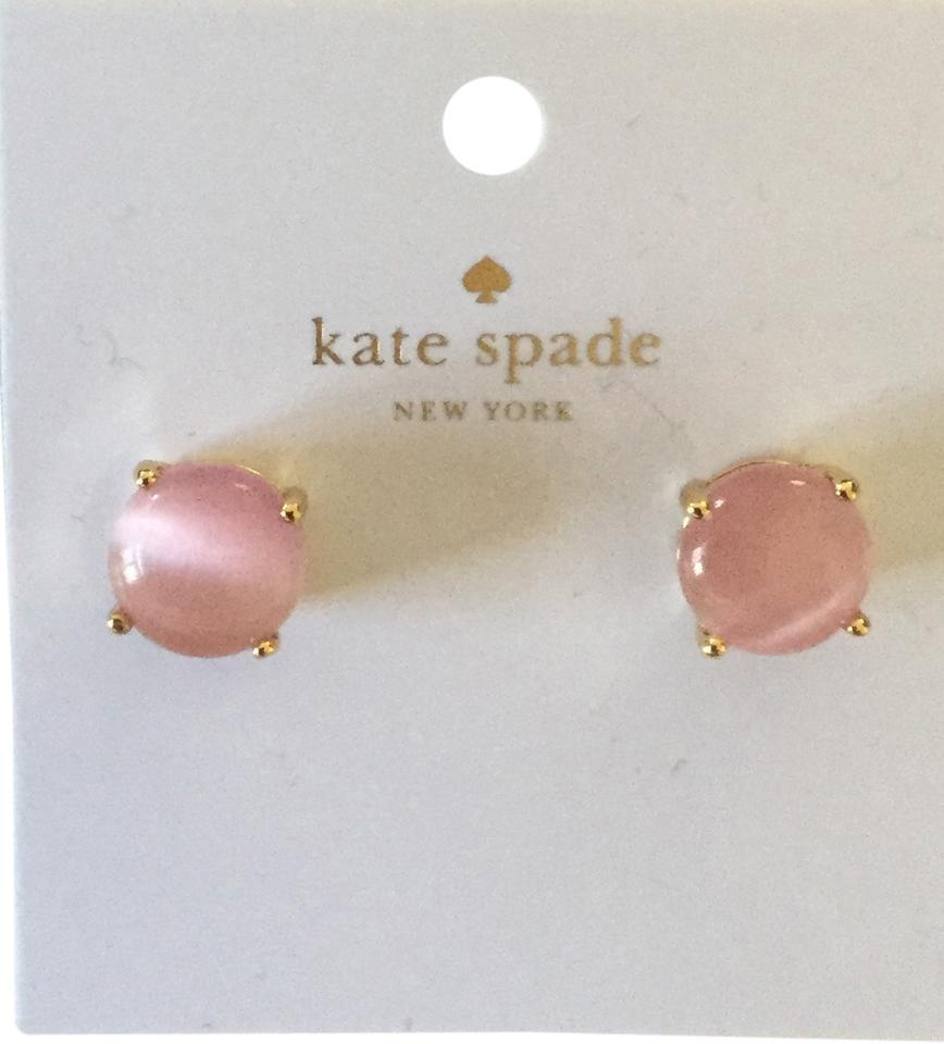Kate Spade Pink Cat Eye Gumdrop Earrings