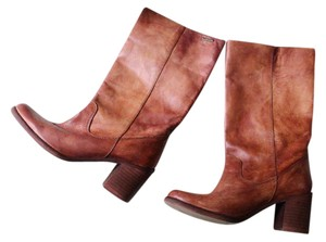 Diesel tan leather Boots