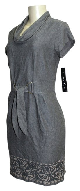 Preload https://img-static.tradesy.com/item/2147882/tiana-b-grey-taupe-cap-sleeves-front-decorative-belt-design-small-above-knee-short-casual-dress-size-0-0-650-650.jpg