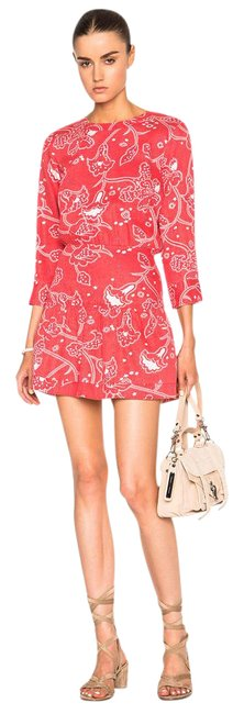 Item - Red Paisley Bandana  Mid-length Night Out Dress Size OS (one size)