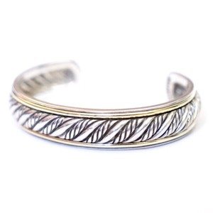 David Yurman Silver Gold Cable Twist Bracelet